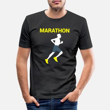 Berlin Marathon Berlin marathon runner runner - Men's Slim Fit T-Shirt