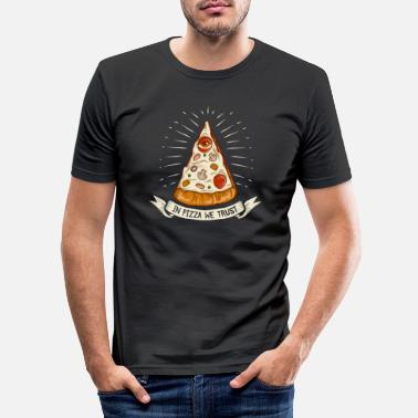 Tommys Selection In Pizza we trust - the original premium design - Männer Slim Fit T-Shirt