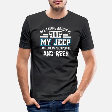 Jeep My Jeep And Beer - Men's Slim Fit T-Shirt