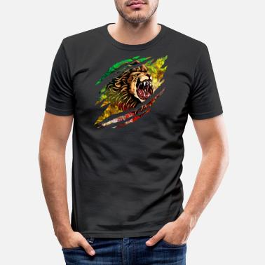 Scratch Lion Scratch - Männer Slim Fit T-Shirt