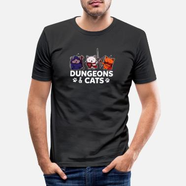 Clan Donjons et chats Gamer Gaming Zocker RPG cadeau - T-shirt moulant Homme
