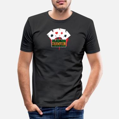 Cards Pokerkampioen aller tijden - Mannen slim fit T-shirt