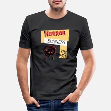 Ghastly Horror Business Halloween - Men's Slim Fit T-Shirt