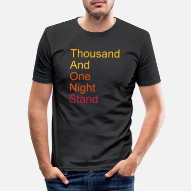 Esposa thousand and one night stand 3colors - Camiseta ajustada hombre