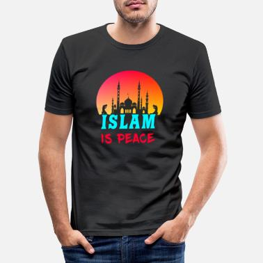 Islam Islam er fred / gave religion muslim - Slim fit T-skjorte for menn