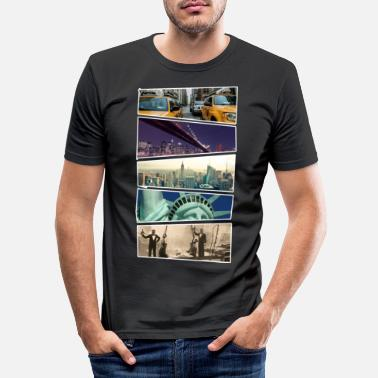 City NYC New York City - Mannen slim fit T-shirt