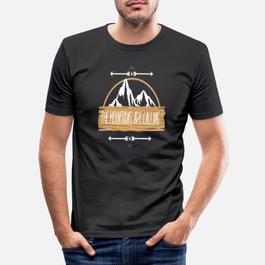 Mountains The Mountains are Calling - Männer Slim Fit T-Shirt