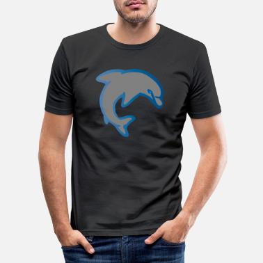 Dolphin - the smartest mammal - Men's Slim Fit T-Shirt