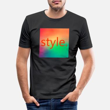 style. - T-shirt moulant Homme