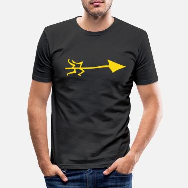 Italy Underwear Symbol - Shooting Arrow - Men's Slim Fit T-Shirt