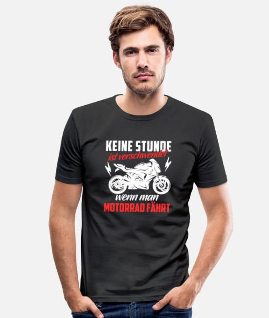 Biker T-Shirts - Motorcycle Shirt · Superbike · Biker · - Men's Slim Fit T-Shirt black