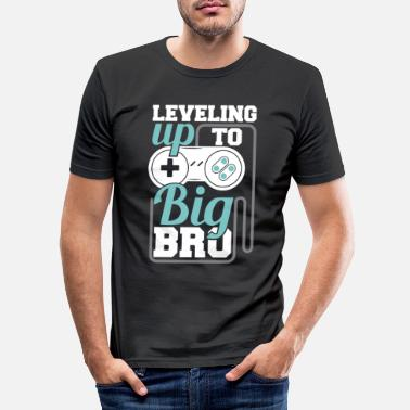 Bro Leveling opp til Big Bro - Big Brother Gamer - Slim fit T-skjorte for menn