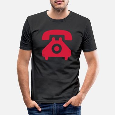 Telephone Handset telephone speaking handset symbol - Men's Slim Fit T-Shirt