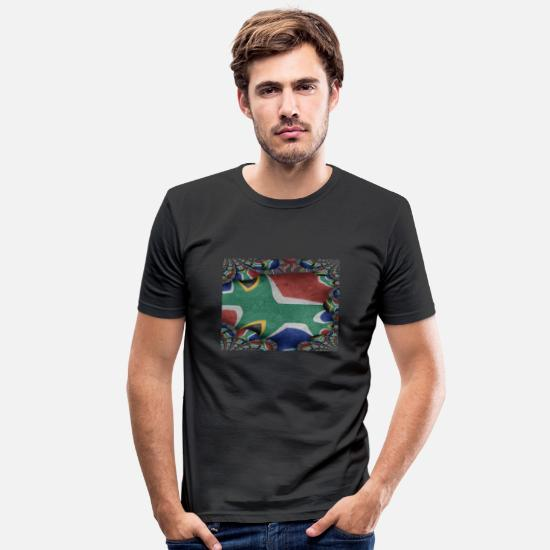 South Africa T-Shirts - South Africa - art design - gift idea - Men's Slim Fit T-Shirt black
