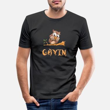 Gavin Owl Gavin - Men's Slim Fit T-Shirt