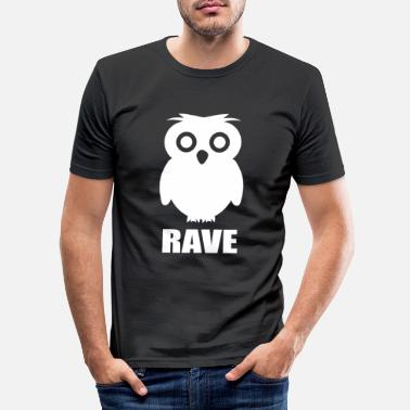 Raver Rave Raver Techno Party Club Festival - Männer Slim Fit T-Shirt