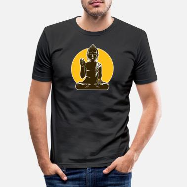 Wealthy Wealthy Buddha - Men's Slim Fit T-Shirt