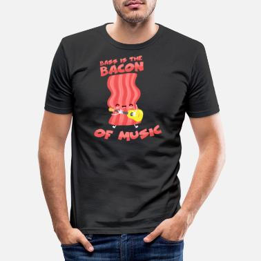 Bacon Bass is the bacon of music - bass player - Men's Slim Fit T-Shirt