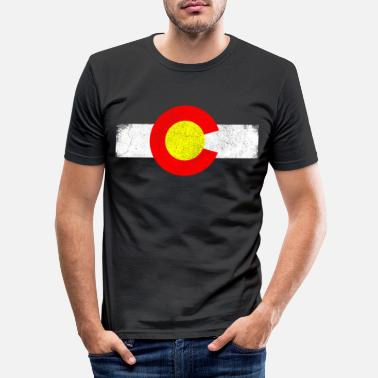 State Colorado state in the western United States - Men's Slim Fit T-Shirt
