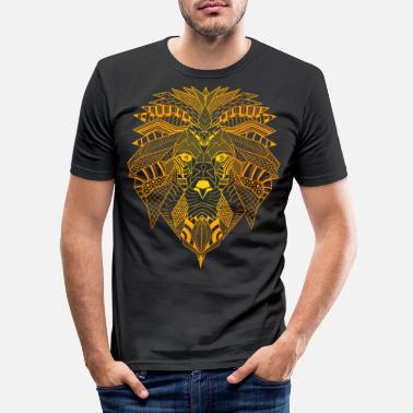 Spirituality Yoga Mandala Spiritual meditation lion - Men's Slim Fit T-Shirt