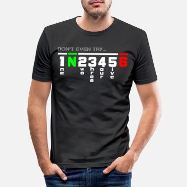 Motorcycle gearshift superbike - Men's Slim Fit T-Shirt