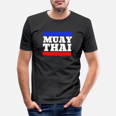 Thai Boxing Muay Thai - Thai Boxing - Boksing - Hvit - Slim fit T-skjorte for menn