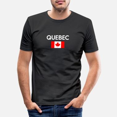 Province Quebec Canada Flag Proud Eastern Canadian Province - Men's Slim Fit T-Shirt
