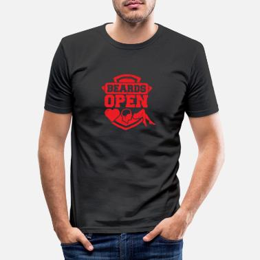 Open Beards Open - T-shirt slim fit herr
