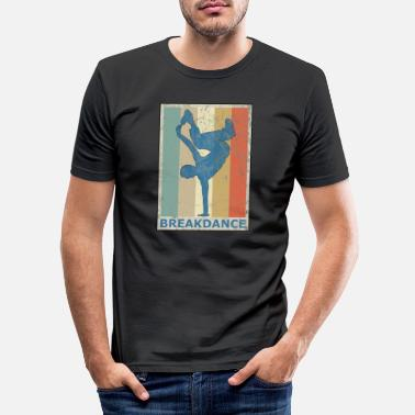 Breakdance Retro Vintage Style Breakdance Breakdancing Hip Hop - Slim fit T-shirt mænd