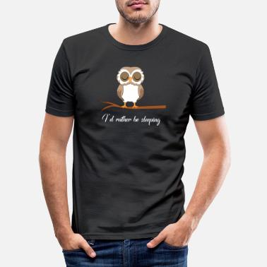 Owl Owl - owl - owl - owls t-shirt - barn owl - Men's Slim Fit T-Shirt