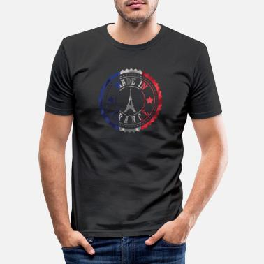 Patriotique Paris France Tour Eiffel Cadeau Patriot - T-shirt moulant Homme