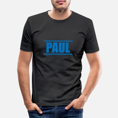 Presenteren Presenteer je voornaam - Paul! - Mannen slim fit T-shirt