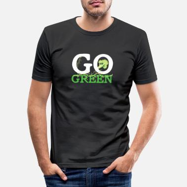 Greendale Go Green Green Nature Veggie - T-shirt moulant Homme
