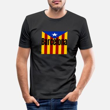 Catalan Barca Barcelona Catalan - Camiseta slim fit hombre 70bd4ed9a51