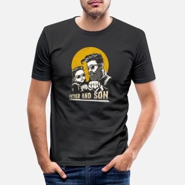 Father and son TShirt for your dad - Men's Slim Fit T-Shirt