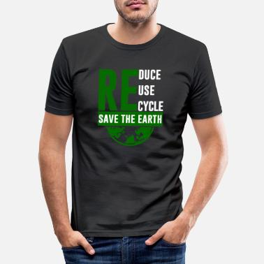 Air Recycle climate protection gift Mother Earth - Men's Slim Fit T-Shirt