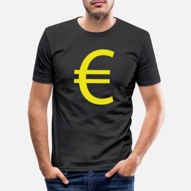 Euro €, Euro, Euro sign - Men's Slim Fit T-Shirt