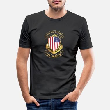 Us US Navy - T-shirt moulant Homme