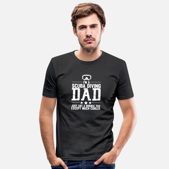 Båd T-shirts - Dykning Vandsport Gave · Far - Slim fit T-shirt mænd sort