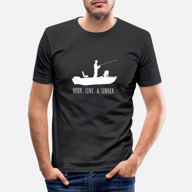 Sinker Hook. Line. Sinker. Angler fisherman - Men's Slim Fit T-Shirt