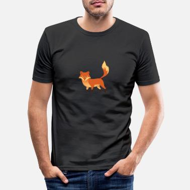Clever Fox - Clever - Clever - Gift - T-shirt slim fit herr