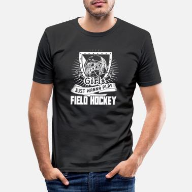 Playing Field Field Hockey Wanna Play Field Hockey - Men's Slim Fit T-Shirt
