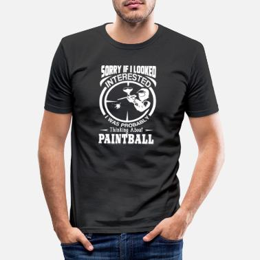 Paintball Paintball penser au Paintball - T-shirt moulant Homme