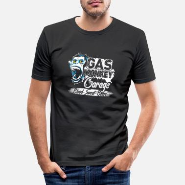 Monkey Gas Monkey Garage Blood Sweat Beers - Men's Slim Fit T-Shirt