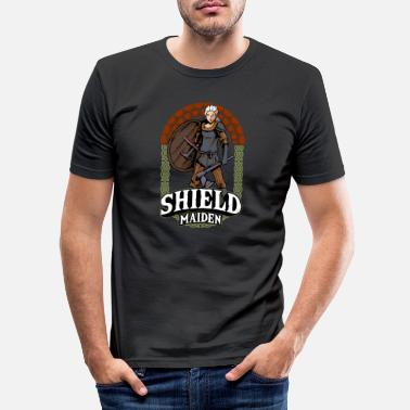 Viking Shield Maiden Kvindelig Viking Warrior Norse Myth - Slim fit T-shirt mænd
