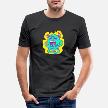 Right kids shirt black with funny monster motif - Men's Slim Fit T-Shirt