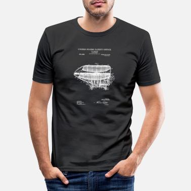 1908 Flying Machine 1908 Patent Print Aviation Gift fo - Mannen slim fit T-shirt