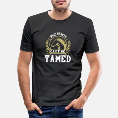 Dressage Horse - Wild hearts can t be tamed - Men's Slim Fit T-Shirt