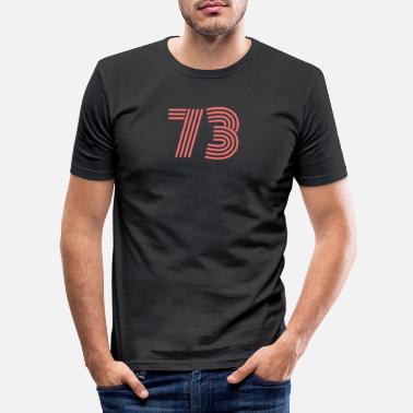 Jersey Number Cool retro retro style jersey number back number - Men's Slim Fit T-Shirt