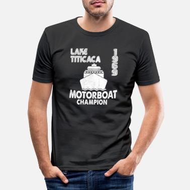 Lake Titicaca 1969 Lake Titicaca Motorboat Champion Dirty Joke F - Men's Slim Fit T-Shirt